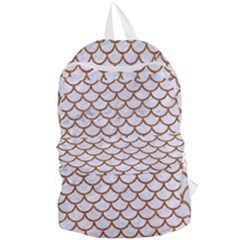 Scales1 White Marble & Rusted Metal (r) Foldable Lightweight Backpack by trendistuff