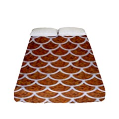 Scales1 White Marble & Rusted Metal Fitted Sheet (full/ Double Size) by trendistuff