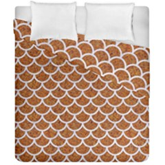 Scales1 White Marble & Rusted Metal Duvet Cover Double Side (california King Size) by trendistuff