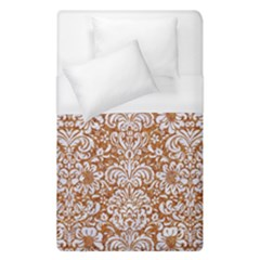 Damask2 White Marble & Rusted Metal Duvet Cover (single Size) by trendistuff