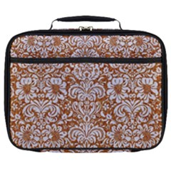 Damask2 White Marble & Rusted Metal Full Print Lunch Bag