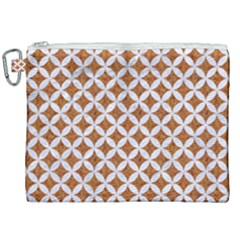 Circles3 White Marble & Rusted Metal Canvas Cosmetic Bag (xxl) by trendistuff