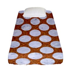 Circles2 White Marble & Rusted Metal Fitted Sheet (single Size) by trendistuff