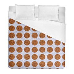 Circles1 White Marble & Rusted Metal (r) Duvet Cover (full/ Double Size) by trendistuff