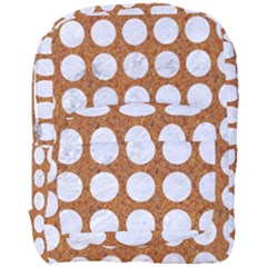 Circles1 White Marble & Rusted Metal Full Print Backpack by trendistuff