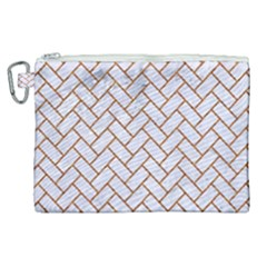 Brick2 White Marble & Rusted Metal (r) Canvas Cosmetic Bag (xl) by trendistuff