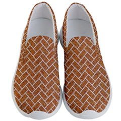 Brick2 White Marble & Rusted Metal Men s Lightweight Slip Ons