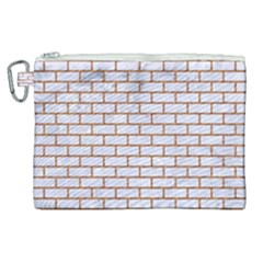 Brick1 White Marble & Rusted Metal (r) Canvas Cosmetic Bag (xl) by trendistuff