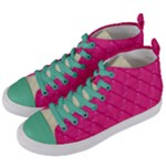 pa_texture02 Women s Mid-Top Canvas Sneakers