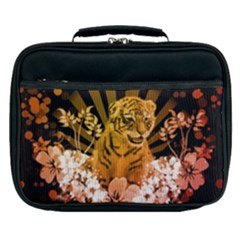 Cute Little Tiger With Flowers Lunch Bag by FantasyWorld7