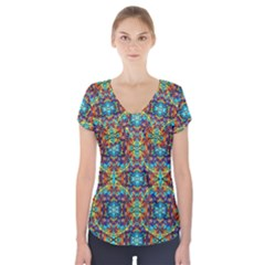 Pattern 16 Short Sleeve Front Detail Top