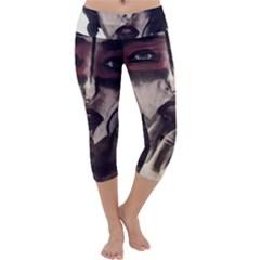 Femininely Badass Capri Yoga Leggings by sirenstore