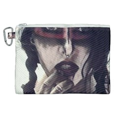 Femininely Badass Canvas Cosmetic Bag (xl) by sirenstore