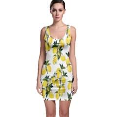 Lemons Print Bodycon Dress