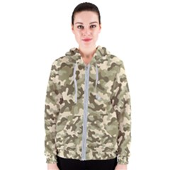 Camouflage 03 Women s Zipper Hoodie by quinncafe82