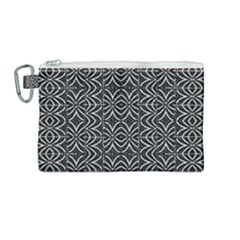 Black And White Tribal Print Canvas Cosmetic Bag (medium) by dflcprints
