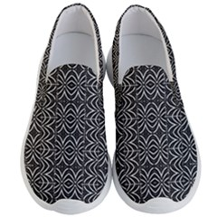 Black And White Tribal Print Men s Lightweight Slip Ons by dflcprints