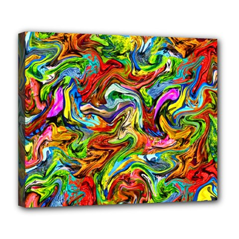 Pattern 21 Deluxe Canvas 24  X 20   by ArtworkByPatrick