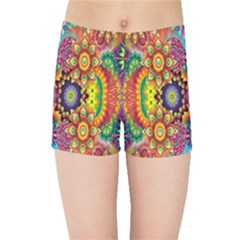 Artwork By Patrick Pattern 22 Kids Sports Shorts