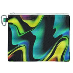 Hot Abstraction With Lines 4 Canvas Cosmetic Bag (xxl) by MoreColorsinLife