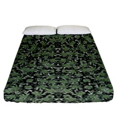 Camouflage Ornate Pattern Fitted Sheet (king Size) by dflcprints