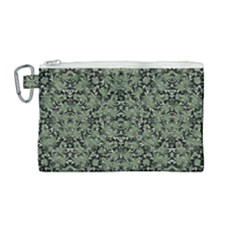Camouflage Ornate Pattern Canvas Cosmetic Bag (medium) by dflcprints