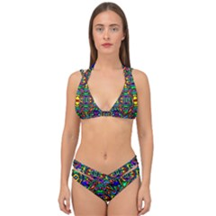 Artwork By Patrick Pattern 31 Double Strap Halter Bikini Set