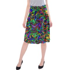 Artwork By Patrick Pattern 31 1 Midi Beach Skirt