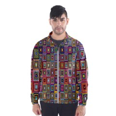 Artwork By Patrick Pattern 33 Wind Breaker (men)