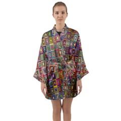 Artwork By Patrick Pattern 33 Long Sleeve Kimono Robe