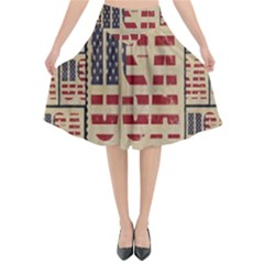 Usa Flared Midi Skirt by ArtworkByPatrick