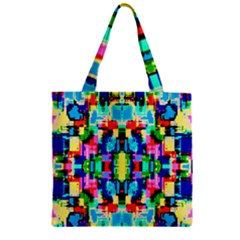 Artwork By Patrick  Colorful 1 Zipper Grocery Tote Bag