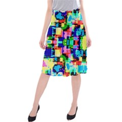 Artwork By Patrick  Colorful 1 Midi Beach Skirt