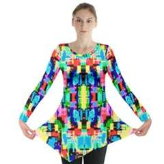 Artwork By Patrick  Colorful 1 Long Sleeve Tunic