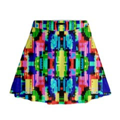 Artwork By Patrick  Colorful 1 Mini Flare Skirt