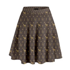 Louis Weim Luxury Dog Attire High Waist Skirt by PodArtist