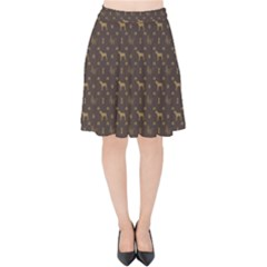 Louis Weim Luxury Dog Attire Velvet High Waist Skirt by PodArtist
