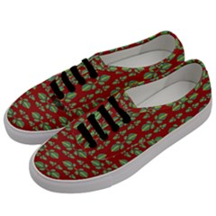 Tropical Stylized Floral Pattern Men s Classic Low Top Sneakers by dflcprints