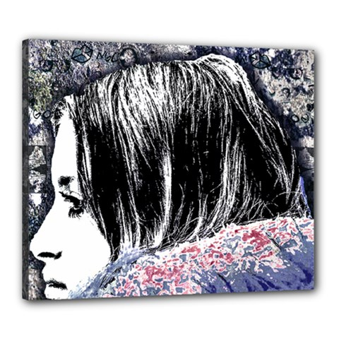 Grunge Graffiti Style Women Poster Canvas 24  X 20  by dflcprints