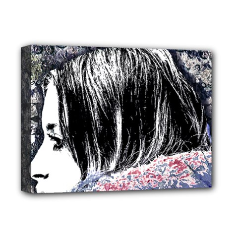 Grunge Graffiti Style Women Poster Deluxe Canvas 16  X 12   by dflcprints