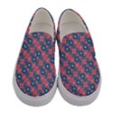 Squares And Circles Motif Geometric Pattern Women s Canvas Slip Ons View1