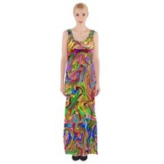 Colorful 2 Maxi Thigh Split Dress