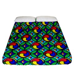 Colorful 4 Fitted Sheet (california King Size)