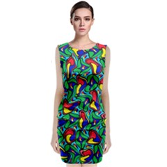 Colorful 4 1 Classic Sleeveless Midi Dress