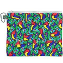 Colorful 4 1 Canvas Cosmetic Bag (xxxl) by ArtworkByPatrick