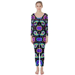 Colorful 5 Long Sleeve Catsuit