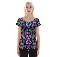 Colorful 5 Cap Sleeve Tops