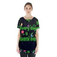 Earth Day Skirt Hem Sports Top by Valentinaart