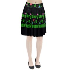 Earth Day Pleated Skirt by Valentinaart