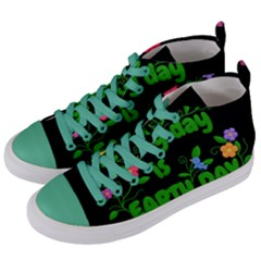 Earth Day Women s Mid Top Canvas Sneakers by Valentinaart